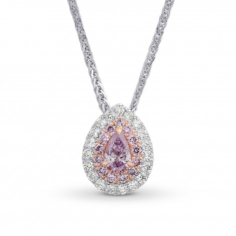 Fancy Pink Purple Double Halo Pendant, SKU 215578 (0.3Ct TW)