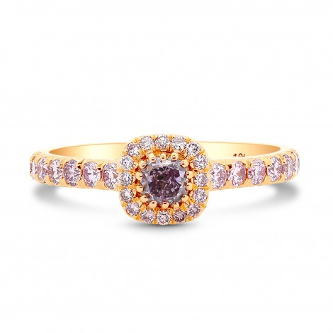 Fancy Pink Purple Cushion Millprong Halo Ring, SKU 218026 (0.61Ct TW)