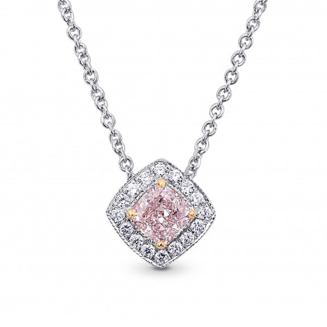 0.52cts Light Pink Diamond Halo Pendant, SKU 218588 (0.64Ct TW)