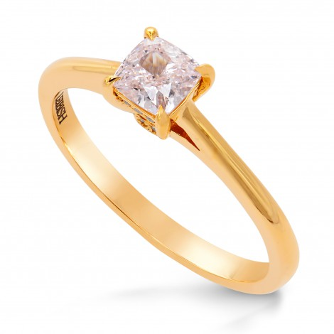 Very Light Pink Cushion Diamond Solitaire Ring, SKU 219244 (0.63Ct TW)