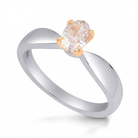 Light Pink Oval Diamond Solitaire Ring, SKU 219409 (0.53Ct TW)
