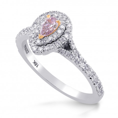 Fancy Purple Pink Pear Diamond Halo Ring, SKU 220644 (0.57Ct TW)