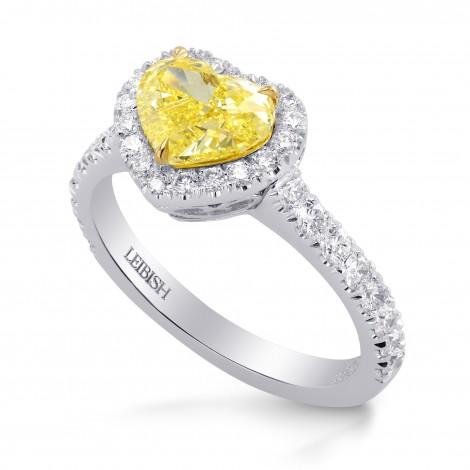 Fancy Intense Yellow Heart Diamond Halo Ring, SKU 227365 (1.81Ct TW)