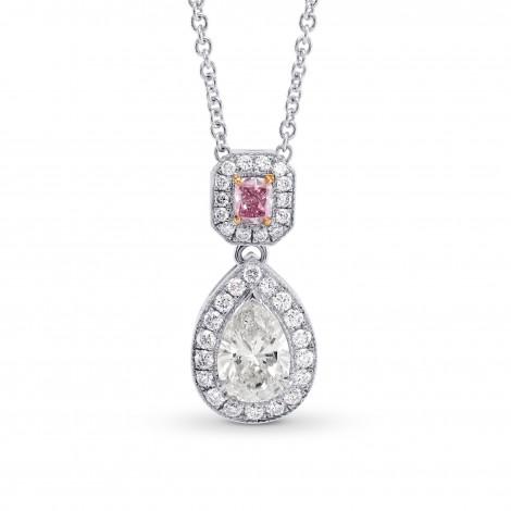 Pear & Pink Cushion Diamond Drop Halo Pendant, SKU 228075 (1.03Ct TW)