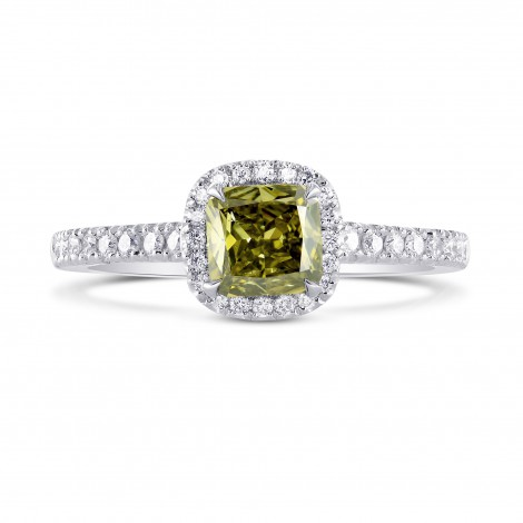 Chameleon Cushion Diamond Halo Ring, SKU 228928 (0.93Ct TW)