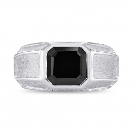 Fancy Black Radiant Diamond Mens Ring, SKU 230354 (2.44Ct TW)