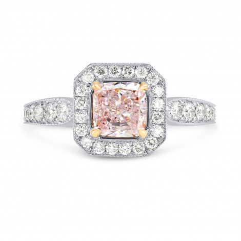 Milgrain Pave Cut-Cornered Diamond Halo Ring Setting, SKU 2336S