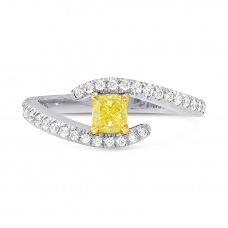 Pave Cross-over Side-stone Diamond Ring Setting, SKU 2341S