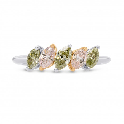Fancy Light Pink and Fancy Grey Marquise Band Ring, SKU 240742 (0.87Ct TW)