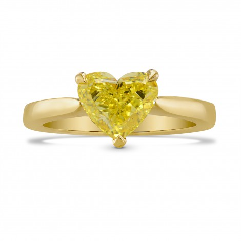 Fancy Intense Yellow Heart Diamond Solitaire Ring, SKU 243782 (1.39Ct TW)
