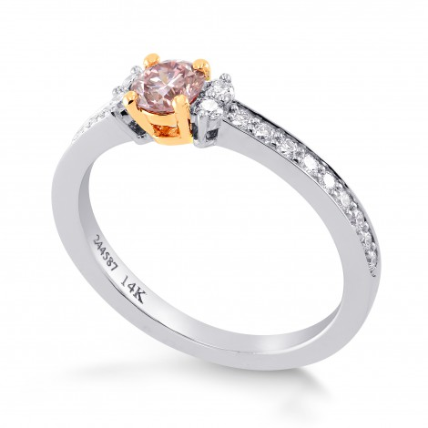 Fancy Pink Diamond Engagement Ring, SKU 244587 (0.52Ct TW)
