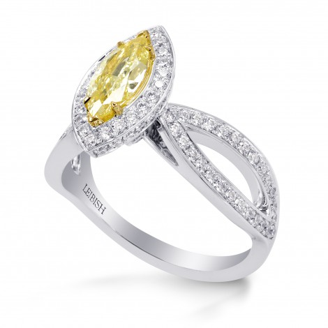 Fancy Yellow Marquise Diamond Engagement Ring, SKU 246125 (1.63Ct TW)