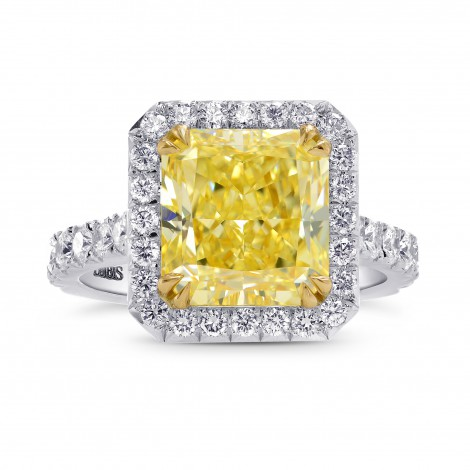 Fancy Yellow Radiant Halo Ring, SKU 246127 (5.02Ct TW)