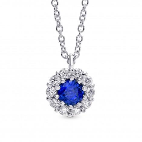 Sapphire & Diamond Pendant, ARTIKELNUMMER 246669 (0,36 Karat TW)