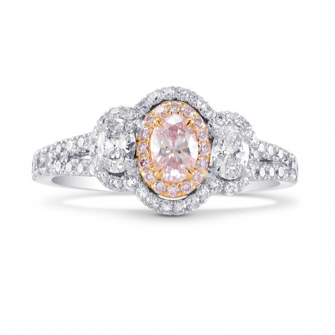 Argyle Light Pink Oval Diamond Halo Ring, SKU 247494 (1.00Ct TW)
