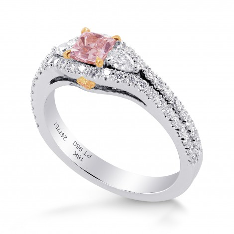 Argyle Fancy Pink Princess Diamond Ring, SKU 247757 (0.95Ct TW)