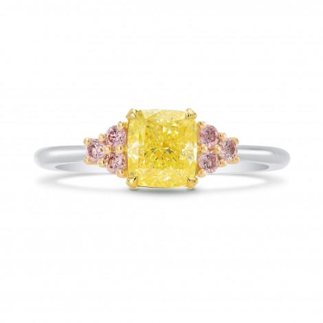 Pink Diamond Side Stone Ring Setting, SKU 2491S
