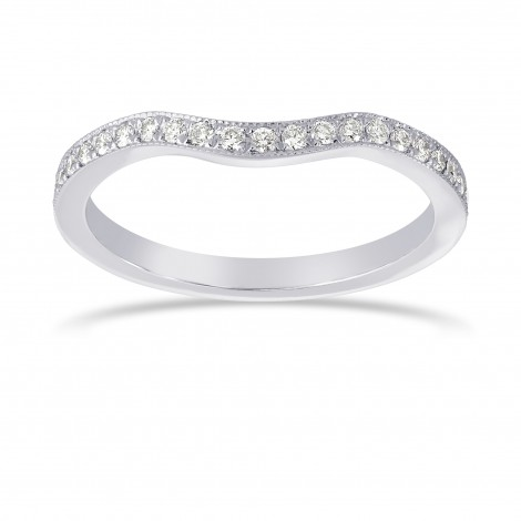 Contoured Milgrain Diamond Wedding Band, SKU 24921R (0.25Ct TW)