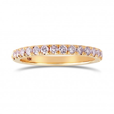 Fancy Light Pink Diamond half Eternity Wedding Ring, SKU 24924R (0.30Ct TW)