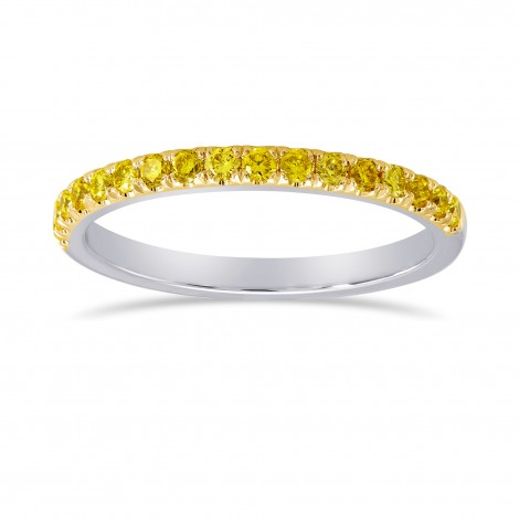 Canary Fancy Vivid Yellow Diamond Half Eternity Wedding Band, SKU 24935R (0.35Ct TW)