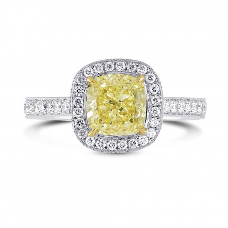 Halo Mill-grain Diamond Ring Setting, SKU 2521S