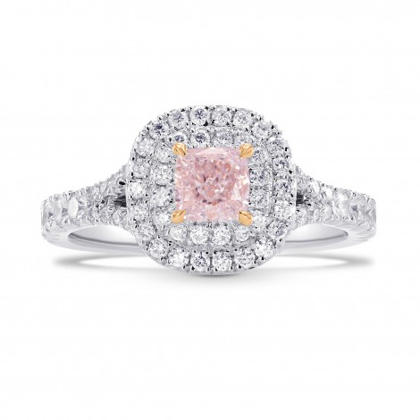 Light Pink Cushion Diamond Halo Ring, SKU 254067 (1.18Ct TW)