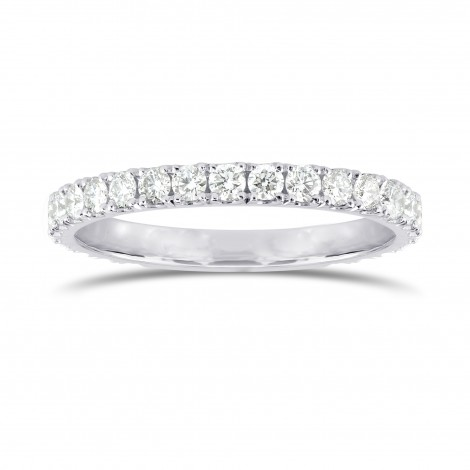 Open Pave Diamond Half Eternity Ring, SKU 25500R (0.30Ct TW)