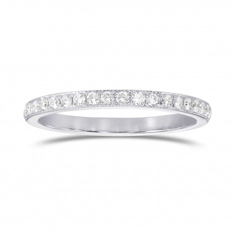 Milgrain Half Eternity Diamond Ring, SKU 25504R (0.25Ct TW)