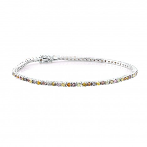 Multicolored Diamond Tennis Bracelet, SKU 25540R (1.90Ct TW)