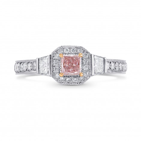 Argyle Fancy Purplish Pink Princess Diamond Engagement Ring, SKU 258111 (0.89Ct TW)