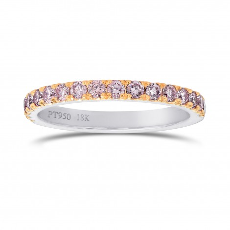 Fancy Light Pink Diamond Half Eternity Ring, SKU 25957R (0.35Ct TW)