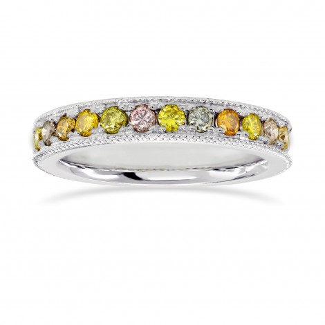 Wide Version - Multicolored Diamond Milgrain Band, SKU 26219R (0.45Ct TW)