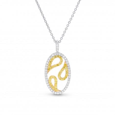Fancy Intense Yellow & White Diamond Pendant, ARTIKELNUMMER 26250R (0,45 Karat TW)