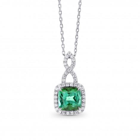 Green Tourmaline & Diamond Drop Pendant, SKU 262820 (1.83Ct TW)