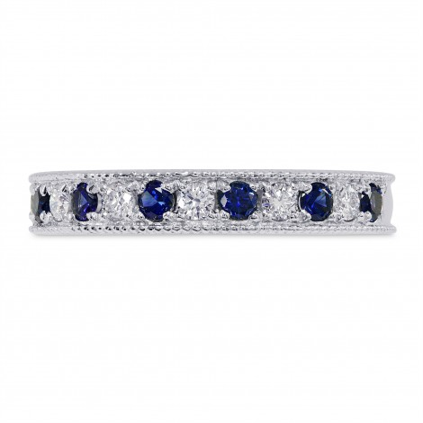 Milgrain Sapphire and Diamond Band Ring, SKU 26401R (0.50Ct TW)