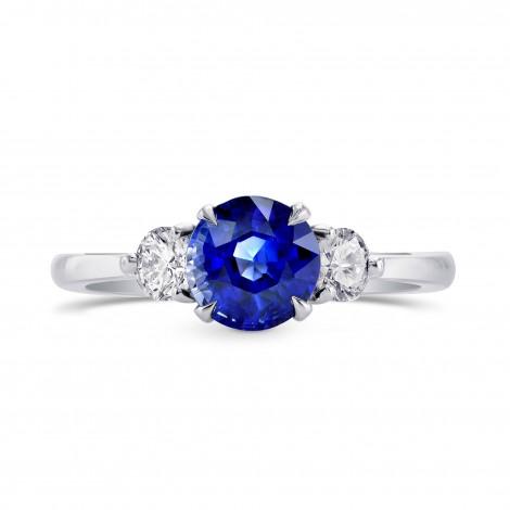 Sapphire & Diamond 3 Stone Engagement Ring with Yellow Diamond Accent, SKU 264690 (1.88Ct TW)