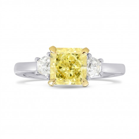 Fancy Yellow Radiant & Trapezoid Diamond Ring, SKU 26481R (1.60Ct TW)