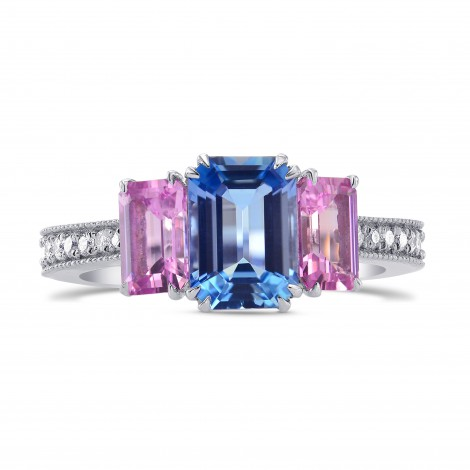 Aquamarine & Pink Sapphire Diamond Ring, SKU 264876 (2.44Ct TW)