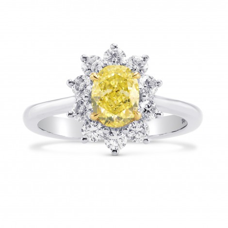 Fancy Yellow Oval Diamond Halo Ring, ARTIKELNUMMER 266850 (1,59 Karat TW)