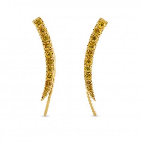Fancy Vivid Orange Yellow Pave Diamond Earrings, ARTIKELNUMMER 266980 (0,65 Karat TW)