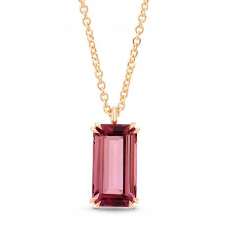Pink Tourmaline Rose Gold Drop Pendant, SKU 267193 (3.04Ct)