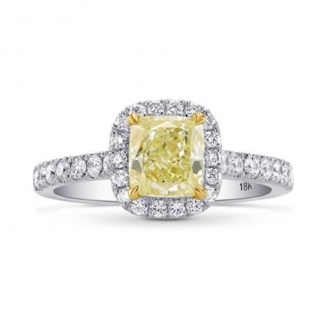 Fancy Yellow Cushion Diamond Halo Ring, SKU 26731R (1.35Ct TW)