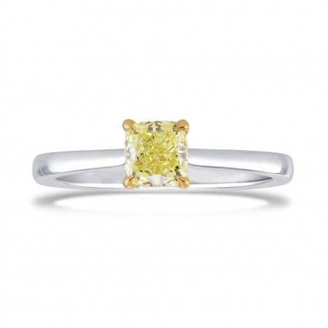 0.70 Carat Fancy Yellow Cushion Diamond Solitaire Ring, ARTIKELNUMMER 26791R (0,70 Karat)