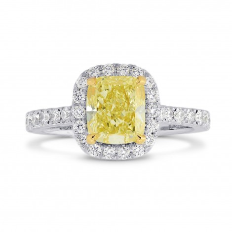 Fancy Yellow Cushion Diamond Carriage Halo Ring, ARTIKELNUMMER 26819R (1,60 Karat TW)