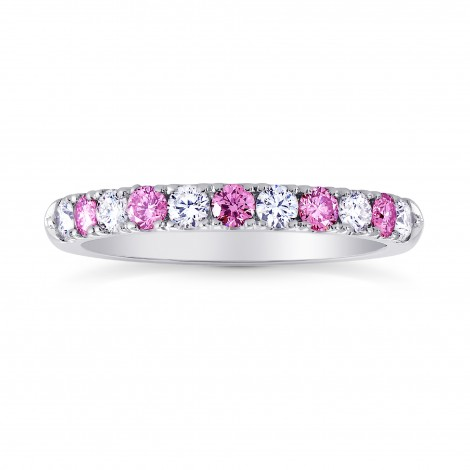 Pink Sapphire & White Diamond Wedding Band, ARTIKELNUMMER 26827R (0,44 Karat TW)