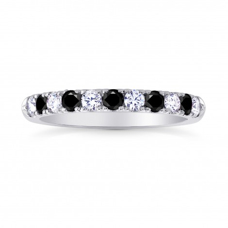 Black Diamond Half-Eternity Wedding Band Ring, SKU 26843R (0.45Ct TW)