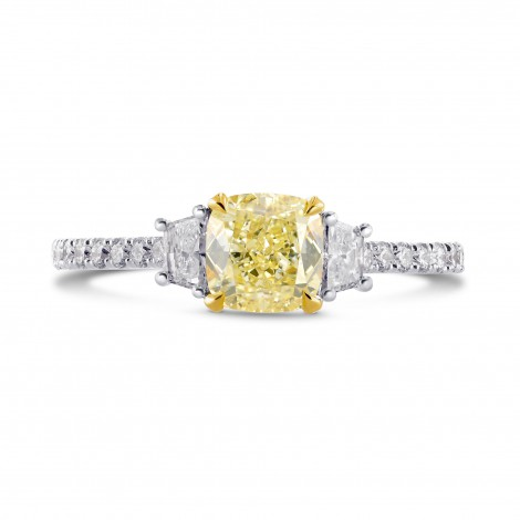 Fancy Yellow Cushion & Trapezoid Diamond Ring, ARTIKELNUMMER 26927R (1,70 Karat TW)