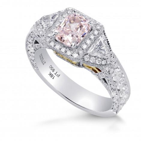 Fancy Light Pink Radiant Diamond Dress Ring, SKU 275232 (3.33Ct TW)