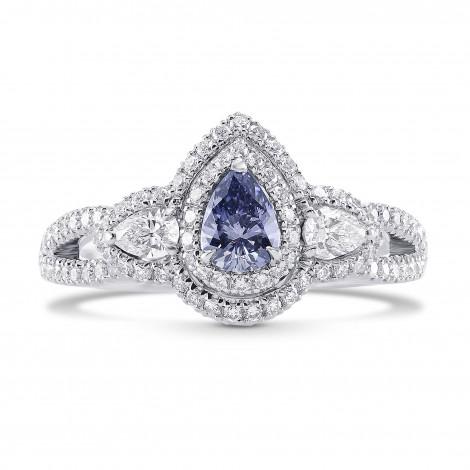 Fancy Gray Blue Pear Diamond Dress Ring, SKU 276067 (0.89Ct TW)