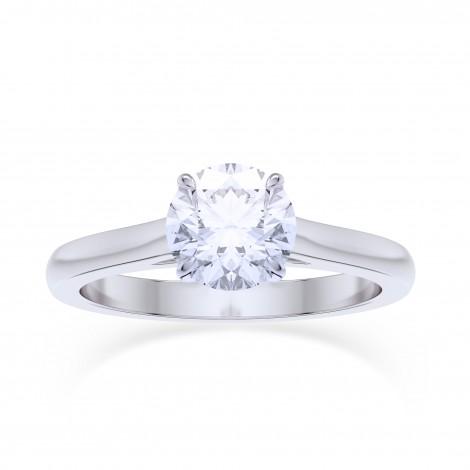 GIA, 0.70Ct Classic Round Brilliant Diamond Solitaire Ring, SKU 27813R (0.70Ct)